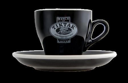 Tiktak Cappuccino kop & schotel (zwart)