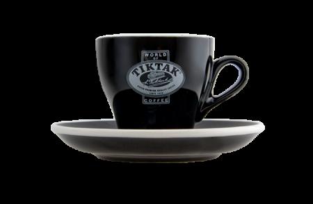 Tiktak Koffie kop & schotel (zwart)