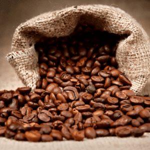 Koffiebonen jute zak