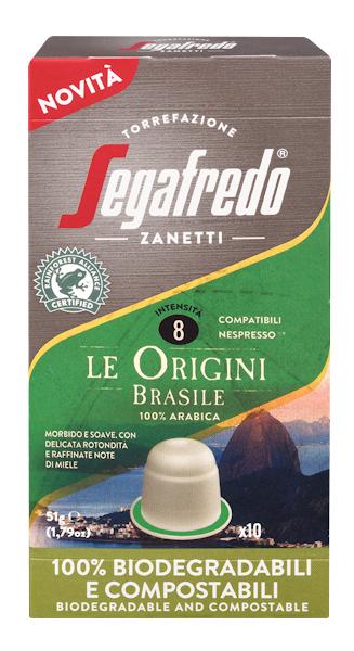 Segafredo 100% Compostable Capsules - Le Origini Brasile - 100% Arabica voor Nespresso®