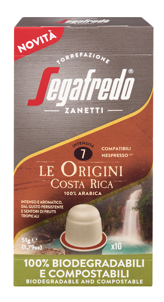 Segafredo 100% Compostable Capsules - Costa Rica - 100% Arabica voor Nespresso®
