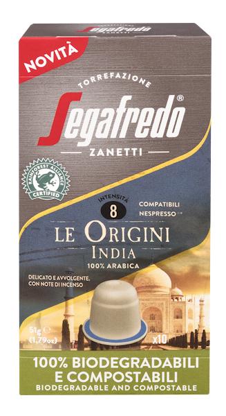 Segafredo 100% Compostable Capsules - Le Origini India - 100% Arabica voor Nespresso®