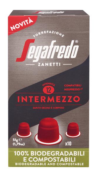 Segafredo 100% Compostable Capsules - Intermezzo - voor Nespresso®