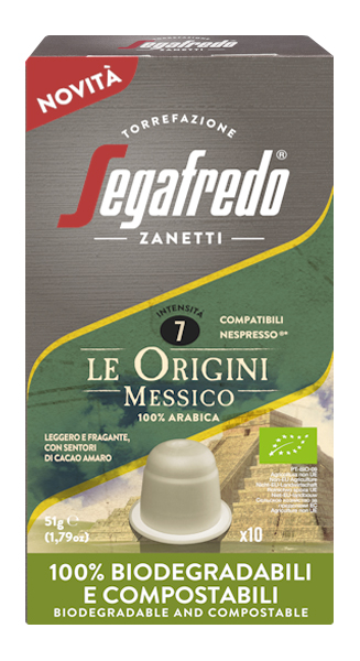 Segafredo 100% Compostable Capsules - Le Origini Messico - 100% Arabica voor Nespresso®