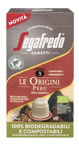 Segafredo 100% Compostable Capsules - Le Origini Peru - 100% Arabica voor Nespresso®