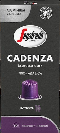 Segafredo – aluminium capsules - Cadenza – 100% Arabica - Espresso dark