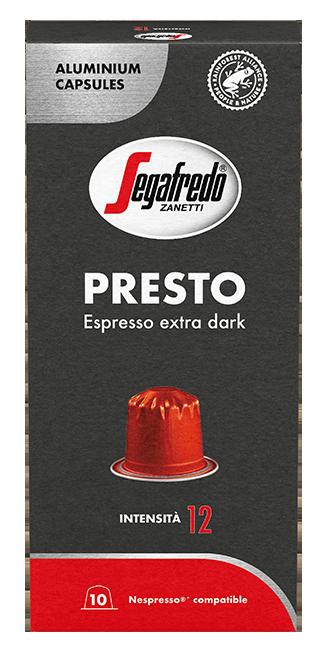 Segafredo – aluminium capsules - Presto  - Espresso Extra Dark